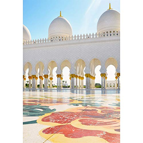 DORCEV 6.5x10ft Sheikh Zayed Mosque Photography Backdrop Ramadan Muslim Islam Religion Arabic Islamic Pray Arab Eid Traditional Minaret Adult Artistic Photo Studio Props -
