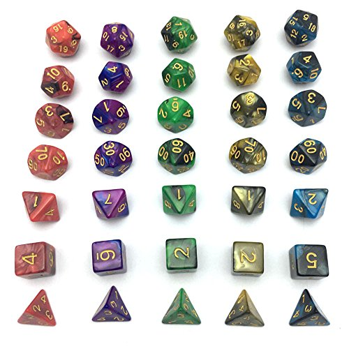Smartdealspro 5 x 7-Die Series Two Colors Dungeons and ...