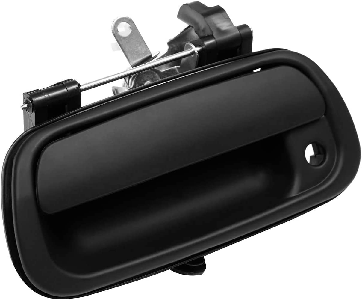 69090-0C010 690900C010 ADP Compatible with Tailgate Handle Latch with Keyhole Toyota Tundra 2000-2006 Rear Exterior Textured Black Tailgate Liftgate Door Latch Replaces