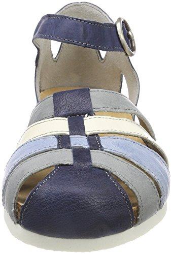 Think shik_282595, Sandali con Cinturino Alla Caviglia Donna Blu (Capri/Kombi 90)