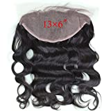 Dreambeauty Virgin Brazilian Lace Frontal Closure Bleached Knots 13X6inch Full Lace Frontal with Baby Hair 14inch