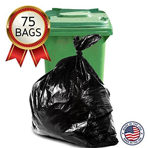 Trash Bags, 65 Gallon, Bulk 75