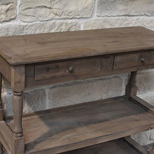 LORIGINALE DECO Console Table de Drapier /à Etages Etag/ères Tiroirs en Bois 100 cm