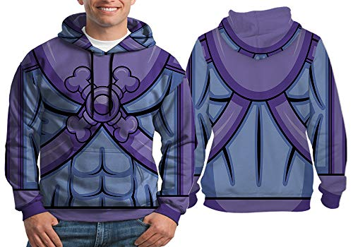 Nicoci3 Skeletor Costume Comic Book Man Hoodie Fullprint Sublimation Size S - XXXL (Pullover, Small) -