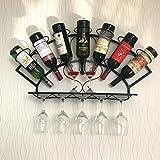 WAN SAN QIAN- Creative Home Living Room Bar Wall-mounted Wine Cooler Wine Glass Rack 83x13x40cm Wine rack ( Color : Black )