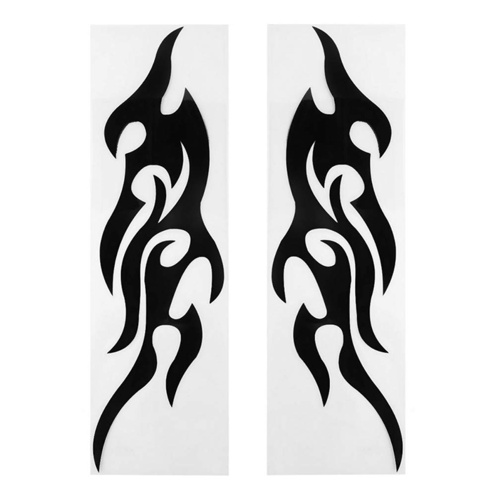 Gifts & Merchandise AITU Car decal 2 stks Fire Stijl Auto Stickers Zwart Reflecterende Vlam Auto S Bumper Deur Body Rood Vinyl Decoratie