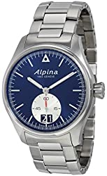 Alpina Men's AL-280NS4S6B Startimer Pilot Big Date Analog Quartz Silver Watch