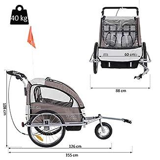 Remolque de bici para niños con kit de footing BICICLETAS Y PIRULETAS 4