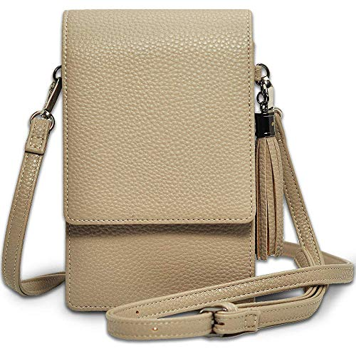 Beige Cell Phone - Small Crossbody Bag Cell Phone Purse Wallet Lightweight Roomy Travel Passport Bag Crossbody Handbags for Women
