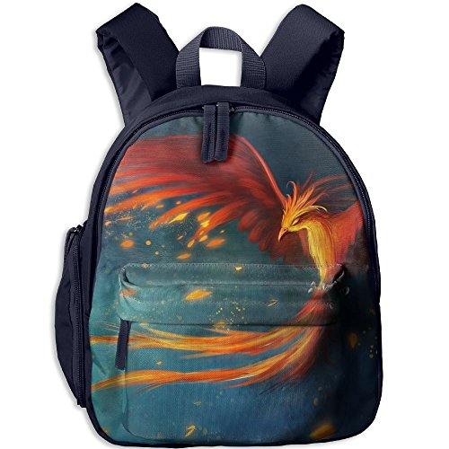 Unisex Baby Kid Fantasy Phoenix Preschool Backpack School Bag Navy by Fashion Theme Tshirt