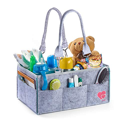 Baby Diaper Caddy Organizer – Portable Changing Table Organizer – Newborn Registry Must Have