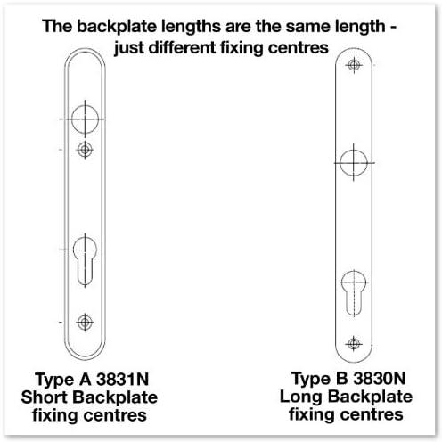 Hoppe Gold Birmingham Pair Handle 92PZ or 92mm Sprung Lever UPVC Door Set PVC PVCu Centre to centre fixings 122mm