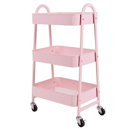 XWYCF Estantes for baño, Estante móvil Trolley IKEA con Ruedas ...