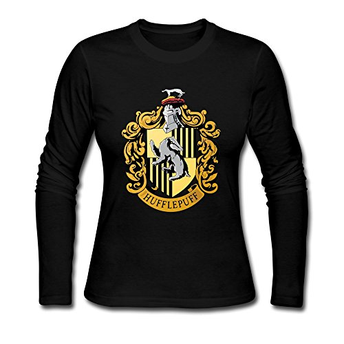AOPO Women's Long Sleeve Harry Potter Hufflepuff Badger Shirt