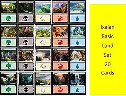 100 Basic Land 20 of Each Colour Magic the Gathering MTG