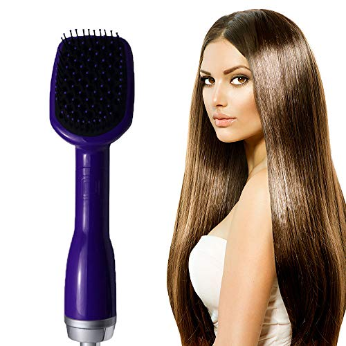 Xianxian88 Hot air Comb, Blow Comb one Multi-Function hot air Electric Brush, Multi-Speed Thermostat Hair Styler, - Pink Styler