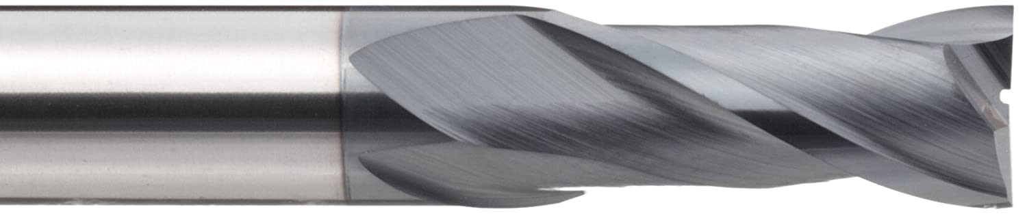 Metric TIALN Multilayer Finish 6mm Shank Diameter YG-1 EM810 Carbide Square Nose End Mill 6mm Cutting Diameter 50mm Overall Length 2 Flutes 30 Deg Helix