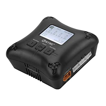 Haisito Cargador del Balance Mini RC Cargador de Doble Puerto 2A x2 H4AC para Baterías 2S 3S 4S LiPo