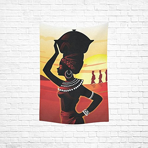 "Custom Home Decor Wall Art African women Cotton Linen Hanging Wall Tapestry 40""x 60"""