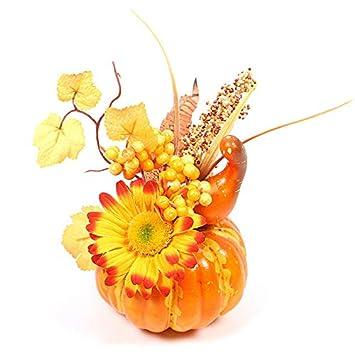 A1 15 cm Decorazione per la casa Ornamenti Autunnali Decorazioni per Halloween GRANDLIN Decorazione per la casa Decorazioni in gommapiuma Zucche Artificiali con Fiori