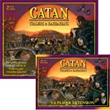 Mayfair Games FFP-104 Settlers of Catan Traders and Barbarians Expansion and 5-6 Player Extension