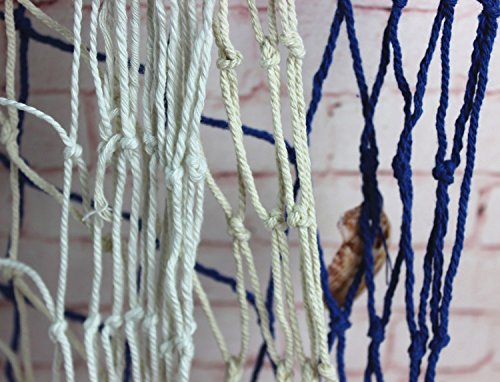 "Mediterranean Decorative Nautical Fish Net - Anchor Sea Shells Home Party Decoration 59""x 79"""