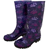 GreaterGood Ultralite Pawsitively Lovely Rain Boots (10, Purple)