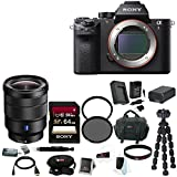 Sony Alpha a7RII Mirrorless Digital Camera Body with Sony 16-35mm Vario-Tessar T FE F4 ZA OSS E-Mount Lens +Sony 64GB Class 10 UHS-1 SDXC up to 70MB/s Memory Card + NP-FW50 Battery and Charger + 72mm Filter + Focus Deluxe SLR Bag Bundle
