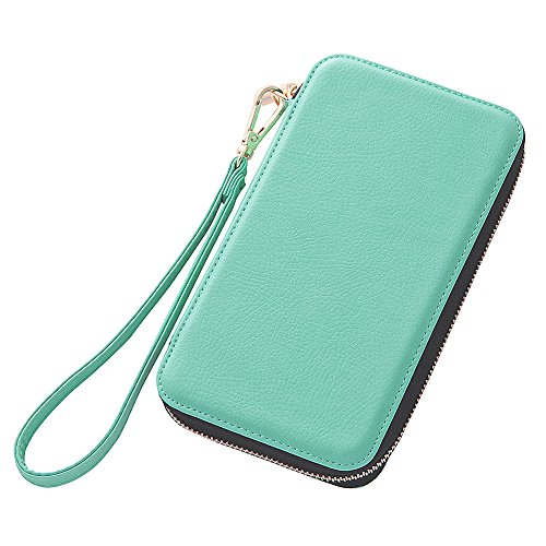 Women's Style Chain Type Diary Case for iPhone 6 (Turquoise)