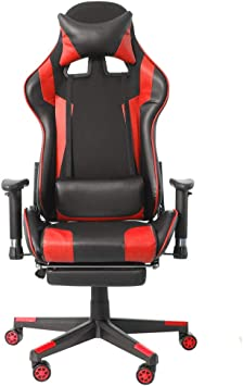 Amazon Com Tuuertge Gaming Chair Armrests High Back Pu Leather Laptop Desk Chair Office Chair Ergonomic Office Chair Color Red Size One Size Furniture Decor