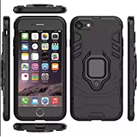 Apple Iphone 7 / Iphone 8 armor iron man case cover with magnetic holder ring stand black