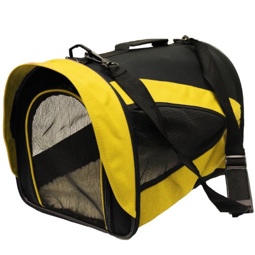 Lightweight Fabric Pet Carrier Crate with Fleece Mat and Food Bag - (17 x 11 x 11.5