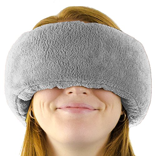 Wrap-a-NapTM - Travel Pillow, Sleep Mask & Ear Muff in One. Adjustable Soft Fleece Neck and Head Pillow. Machine Washable. One-Size-Fits-All.(Grey)