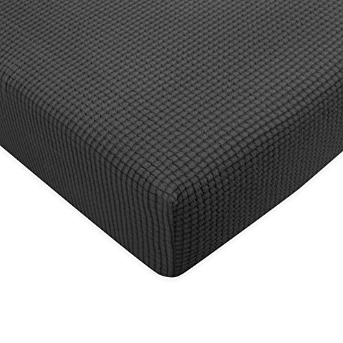 Subrtex Spandex Elastic Couch Stretch Durable Slipcover Furniture Protector Slip Cover for Settee Sofa Seat (Chair Cushion, Gray)