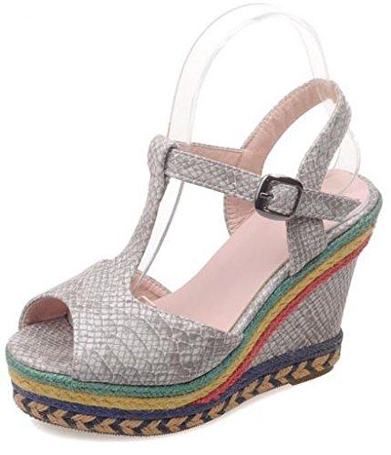 Grey Grey Laruise Sandale compensée femme Laruise femme femme compensée Sandale Sandale compensée Laruise SwqE77