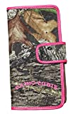 Women Mossy Oak Camo Bi Fold Wallet Pink Camouflage Cluth Western Style Wallet with Pink Trim