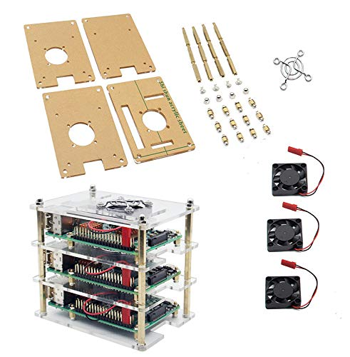 Amazon.com: RICHEN 3-Layer Acrylic S +3 Pieces Cooling Fan for ... on