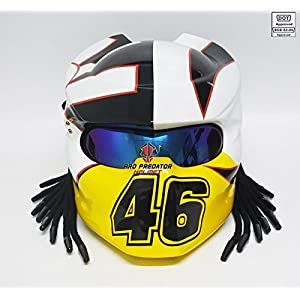 Pro Predator Motorcycle DOT Approved Helmet 46 Rossi Style include Tri Laser SY37 51VXuVyrGRL