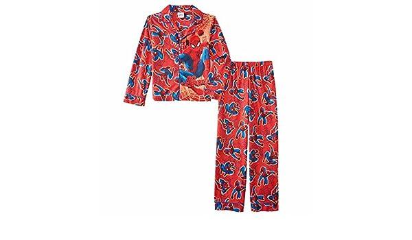 Pijamas de hombre ara?a Ultimate Red Ultimate Goce Ropa de noche de franela Spidey Set 10: Amazon.es: Ropa y accesorios