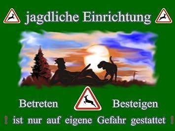 Kuhlibri Werbestudio Metall Warnschild Fur Jager Jagdliche