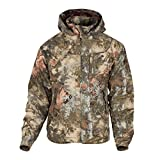 King's Camo Classic Cotton Insulated Ripstop Hooded Jacket (Mountain Shadow, Large)