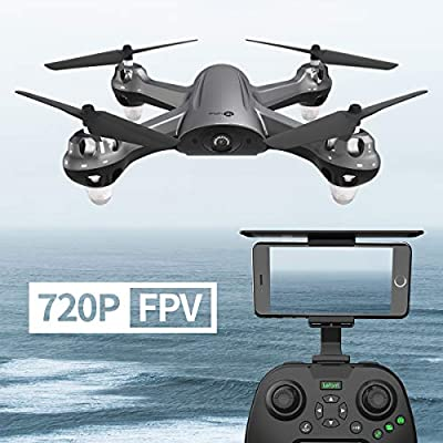 GPS FPV RC Drone with 720P Camera Live Video GPS Return Home Quadcopter Camera Drone for Adults Beginners with Follow Me Mode, Altitude Hold, Waypoint Flight and 18 Mins Long Fly Time