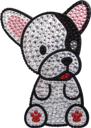 Love Your Breed Rhinestone Sticker, French Bulldog