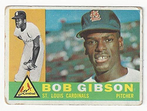 Vintage Bob Gibson Rookie Card Collectible Baseball Card - 1960 Topps Baseball Card #73 (St. Louis Cardinals) Free Shipping ()