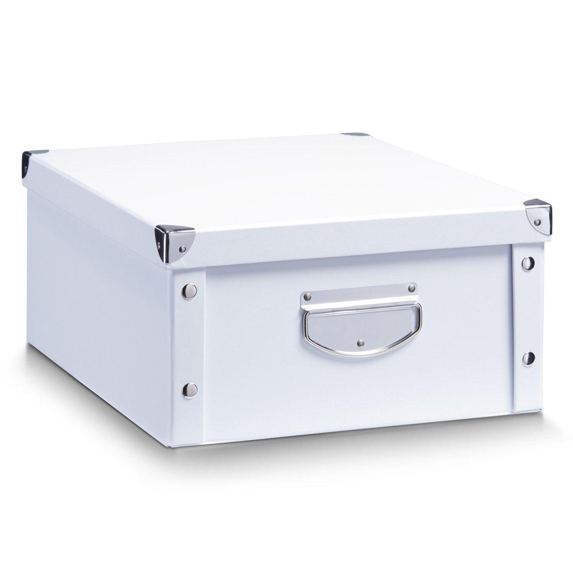 Zeller 17764 Caja de almacenaje de cartón Blanco (White) 40 x 33 x 17 cm: Amazon.es: Hogar