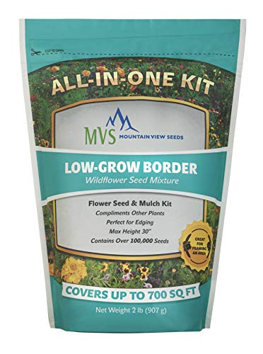 Mountain View Seeds 100574 Border Wildflowers, - Assorted Borders