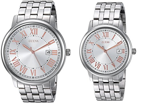 GUESS Men's Quartz Stainless Steel Casual Watch, Color:Silver-Toned (Model: U0740P2)