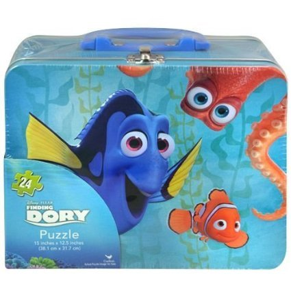 Finding Dory Large Lunch Tin Box with 24pc puzzle inside