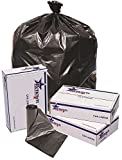 RENOWN GIDDS-2478854 Renown Trash Can Liners, Black, 38 x 58, 1.2ml, 20 Liners Per Roll, 5 Rolls Per Case