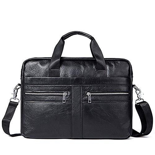 Business Briefcases Man for lawyer Genuine Leather Messenger Bag Men Shoulder Bags leather laptop men's briefcases 2019